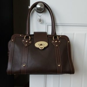 MULBERRY chocolate brown satchel